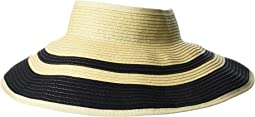 Ribbon Striped Roll Up Visor