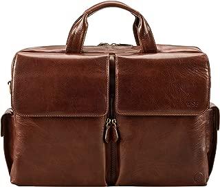 Maxwell Scott Men's Italian Crafted Leather Briefcase - Lagaro Tan