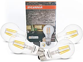 SYLVANIA General Lighting 75580 Sylvania Smart+ Bluetooth Enabled Soft White Filament A19 LED Bulb, Works with Apple HomeK...