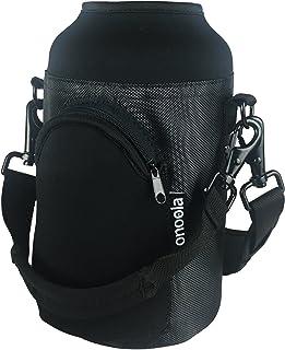 Onoola 64oz Pocket Carrier for Hydro Flask Type Growler Bottles with Padded Adjustable Straps (Black)