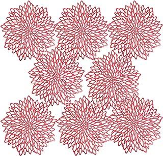 Huai1988 Lot de 8 sets de table en PVC résistant à la chaleur - Isolation creuse - Dessous de verre en PVC - Décoration de...