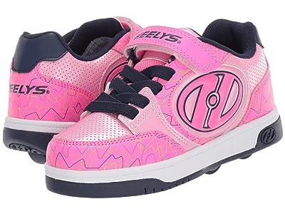 Heelys Plus X2 (Little Kid/Big Kid) (Hot Pink/Light Pink/Navy) Girl