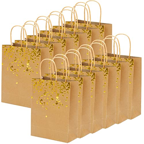 Keriber 18 Pieces Paper Bags Bronzing Kraft Bag Hen Party Bride Gift Birthday With