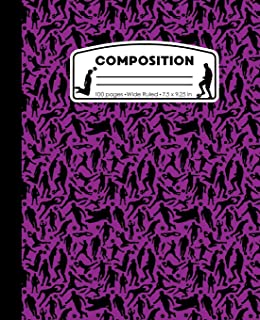 Composition: Soccer Player Purple Marble Composition Notebook. Sports Futbol Fan Wide Ruled Book 7.5 x 9.25 in, 100 pages, journal for girls boys, kids, elementary school students and teachers