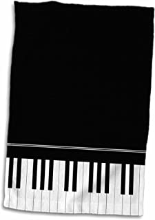 3D Rose Black Piano Edge-Baby Grand Keyboard Design for Pian