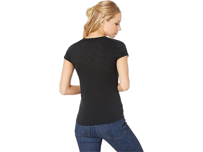 Free Peoplenight Skysólido De Tee Black Shirts & Tops