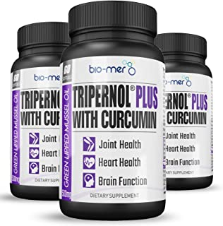 Tripernol® Plus 3 Pack - 180 Softgels - 3 Months Supply - Elite Green Lipped Mussel Oil with Curcumin- High Dose EPA & DHA Omega 3 & Phospholipids