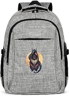 Unisex Laptop Backpack Waterproof Anime Backpack USB Charging Port Travel Backpack Fit Under 15.6 Inch Laptop