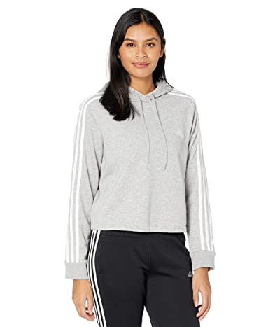 adidas 3-Stripes French Terry Cropped Hoodie