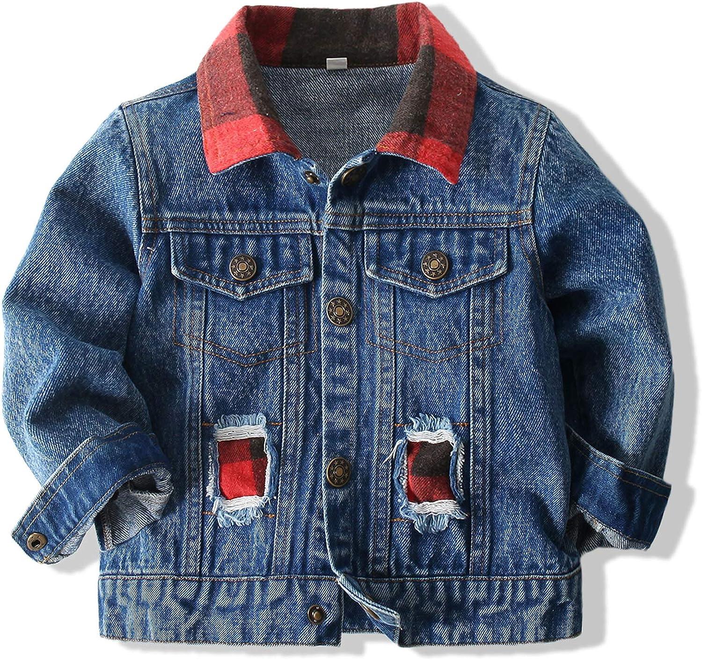 Kimocat Baby Boys' Denim Jacket 5 ☆ popular Button It is very popular Outerwear Top Down Coat
