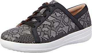 FitFlop Women's Casual Exotic F-Sporty II Sneaker, Black