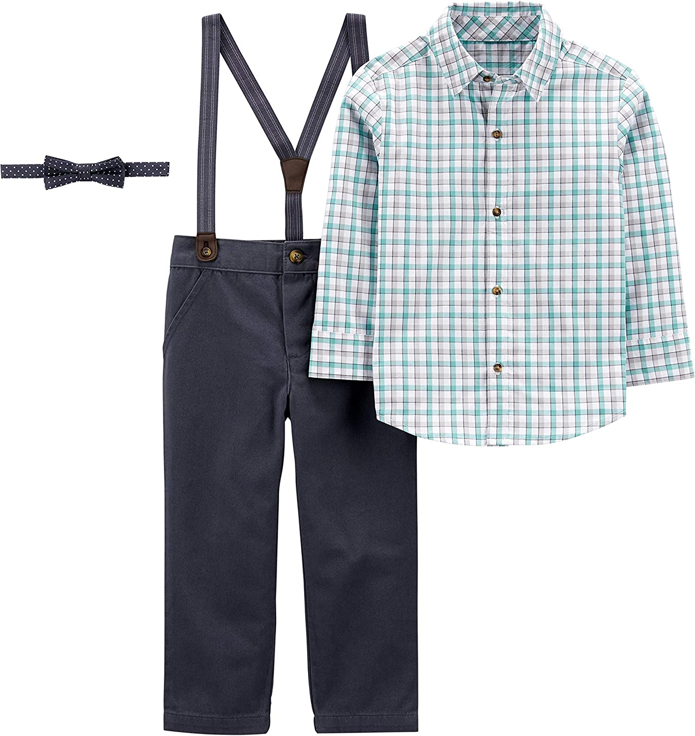 Simple Joys by Carter's Boys' 3-Piece Special Occasion Bow-tie and Suspender Pants Set