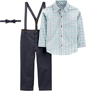 Simple Joys by Carter's - 3-Piece Special Occasion Bow-Tie And Suspender Pants Set, Clothing-Sets Bimbo 0-24
