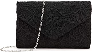 Wedding Pleated Floral Lace Clutches Bag Evening Cross Body Handbags Purse