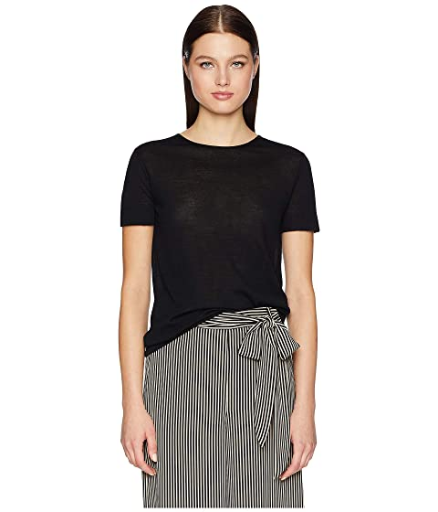 GREY Jason Wu Feather Weight Merino Crew Short Sleeve Knit Top