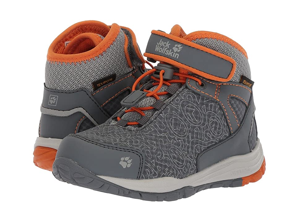 Jack Wolfskin Kids Portland Texapore Mid (Toddler/Little Kid/Big Kid) (Orange Crush) Kids Shoes