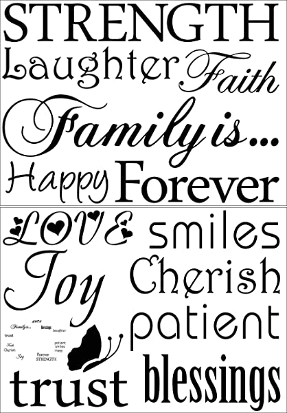 Family Wall Decal Classic Set Of 10 Family Words Quote Family Wall Sticker Picture Wall Decal The Picture No Photos Included