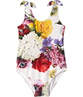 Dolce & Gabbana Kids - Flowers Mix Swimsuit One-Piece (Little Kids)