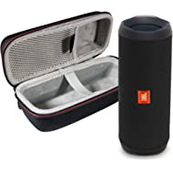 JBL Flip 4 Portable Bluetooth Wireless Speaker Bundle with Protective Travel Case - Black