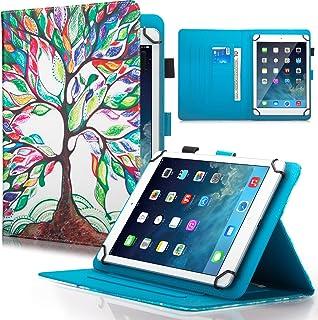 جراب Dteck 9.5-10.5 بوصة، غطاء جلدي قابل للطي بحامل لجهاز Galaxy Tab 9.6 9.7 10.1 10.4 10.5 / iPad Pro 9.7 / Dragon Touch ...