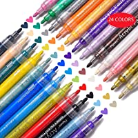 Allnice Rocks Painting Acrylic Paint Markers Pens (Multi Colors)