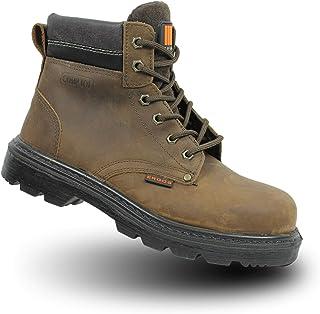 Ergos Liverpool 2 S3 Chaussures de sécurité SRC Travail Chaussures à Brown