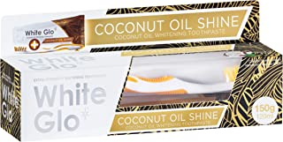 White Glo Coconut Oil Whitening Toothpaste, Refreshing Coconut & Mint Flavour, Premium Fluoride, Holistic Oral Care, Infus...