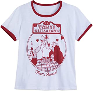 Disney Lady and The Tramp Ringer T-Shirt for Women - Extended Size Multi