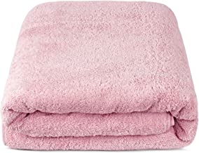 TURKUOISE TURKISH TOWEL % 100 Turkish Cotton Luxury and Super Soft Towels (Bath Sheet Oversize, Pink)