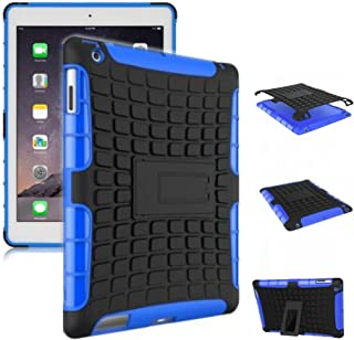 New Ipad Case Cover Shockproof Rugged Hard For New iPad 9.7 inch 2017 Version Model numbers A1822 A1823 Black + Blue