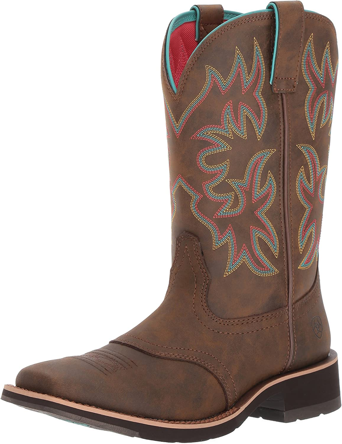 Ariat Delilah Western Boots - Women's Leather Square Toe Cowgirl Boot
