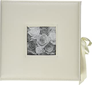 Pioneer Photo Albums 120-Pocket 3-Ring Sewn Leatherette Frame Cover Photo Box for 4 by 6-Inch/5 by 7-Inch/6 by 8-Inch Prints, Ivory