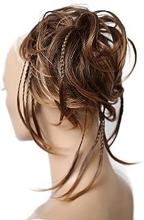 PRETTYSHOP XXL Postizo Coletero Peinado alto, VOLUMINOSO, rizado, Moño descuidado mezcla marrón # 4T30 G8D