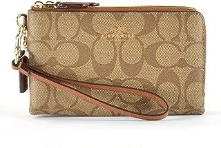 Coach PVC Double zip wallet