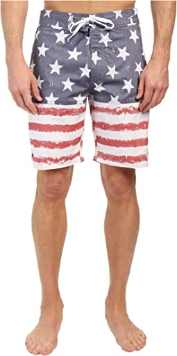 Sky N Stripes Boardshorts