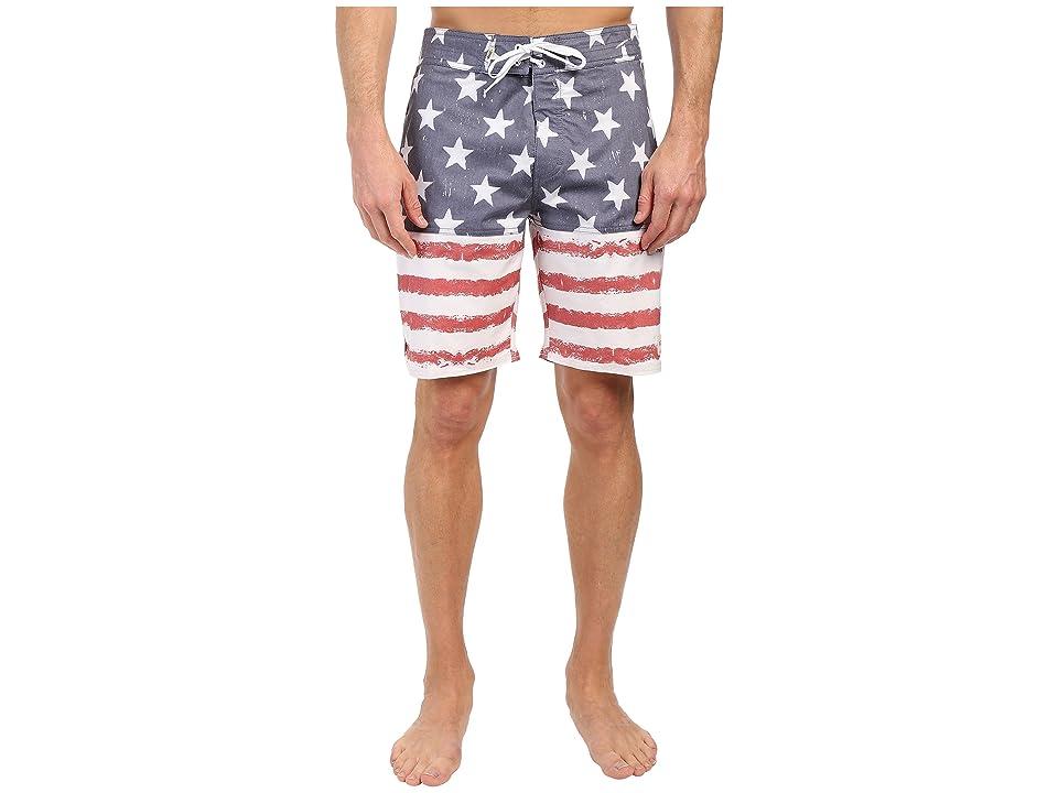 Vans Sky N Stripes Boardshorts (Red/White/Navy) Men