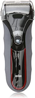 Braun Series 3 320s Men's Electric Foil Shaver / Electric Razor, Wet & Dry, Red/Grey