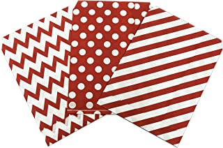 Present Avenue Food Safe Biodegradable Red Paper Candy Favor & Treat Bags Pack of 75 Great for Christmas Holiday and Carnival Party