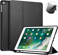 Fintie iPad 9.7 Pollici 2018 2017 Custodia con Built-in Apple Pencil Holder - Sottile Leggero Cover con Auto Sonno/Sveglia la funzione per New Apple iPad 9,7'' 2018/2017, Nero