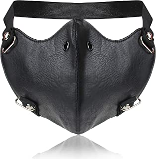 PU Leather Rivet Half Face Punk Cosplay Wind Protective Motorcycle Anti-Dust Mask