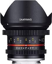 Samyang F1420506101 - Objetivo para vídeo VCSC-Mirrorless para Sony E (Distancia Focal Fija 12mm, Apertura T2.2-22 Cine NCS CS, diámetro Filtro: 67mm), Negro