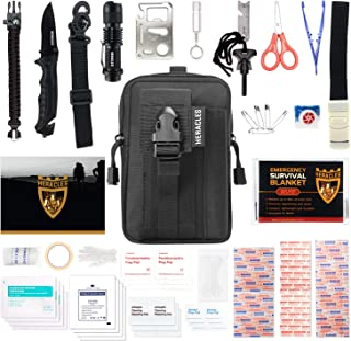 HERACLES 110 in 1 Emergency Survival Kit, First Aid Kit, Survival Gear, Survival Kit, Emergency Kit, Tactical Gear, Zombie Survival Kit, MOLLE Gear, EDC Gear, Earthquake Survival Kit, Camping, Hiking
