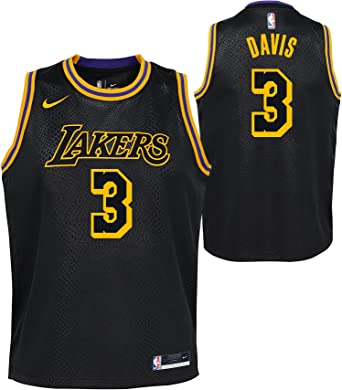 Anthony Davis Los Angeles Lakers Youth 8-20 Black Mamba Edition Swingman Jersey