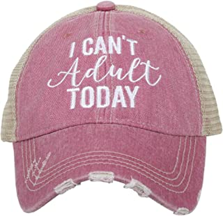 I Can't Adult Today Women's Trucker Hat Cap by Katydid