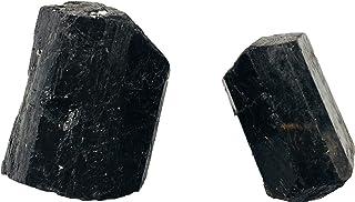 Zungtin 2 Stück grobe Schwarze Turmalin-Kristalle groß Roh