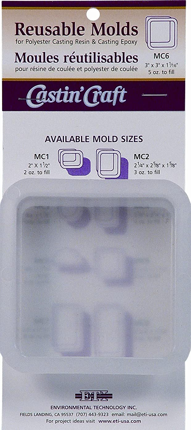 Environmental Technology 3-Inch by 3-Inch by 1-1/16-Inch Castin' Craft Carded Poly Mold, MC-6