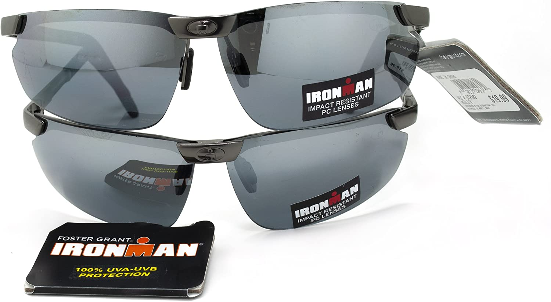 (2 Pack) Ironman Agility Sunglasses (1034) 100% UVA & UVB PredectionShatter Resistant