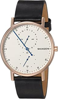 Skagen Signature Men's White Dial Leather Band Watch - SKW6390