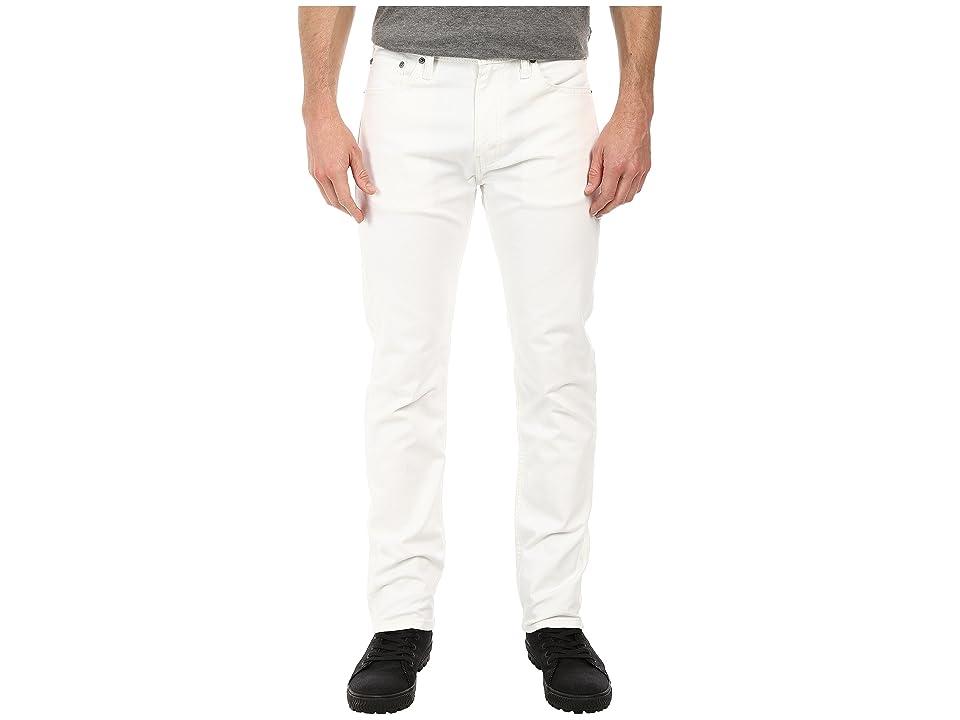 Levi's(r) Mens 513tm Slim Straight Fit (White/Bull Denim) Men's Jeans