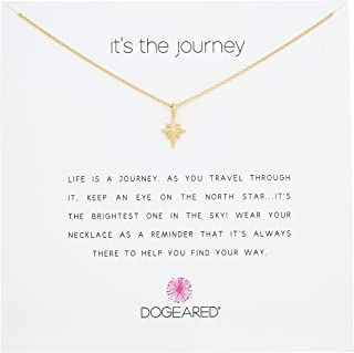 Dogeared It's The Journey, North Star Chain Necklace, 16